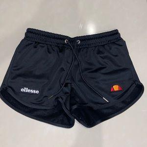 black ellesse athletic shorts